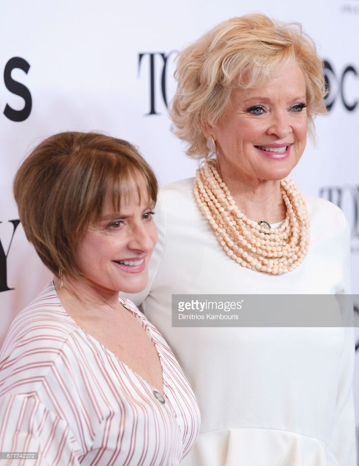 Patti LuPone and Christine Ebersole attend the 2017 Tony Awards Meet The Nominees Press Junket at the Sofitel New york on May 3, 2017 in New York City.