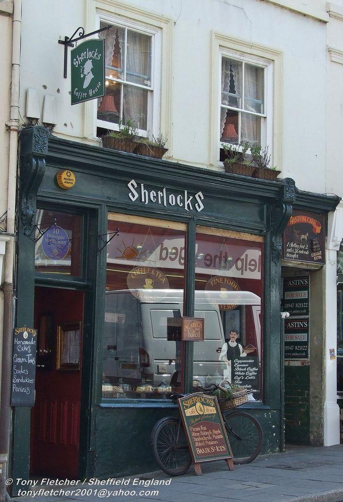 Sherlocks on Flowergate in Whitby. Home of wonderful cakes.  #RePin by AT Social Media Marketing - Pinterest Marketing Specialists ATSocialMedia.co.uk