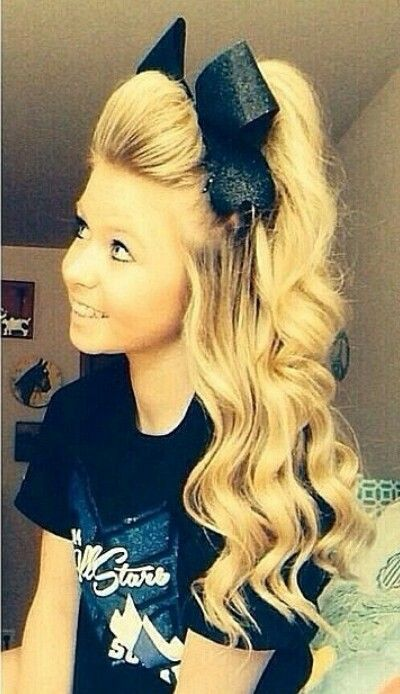 Cheerleader Hairstyles braid hairstyles This Hair Is Legit Perfect I Wish Mine Could Look Like This All The Time Cheerleader Hairstylescheer