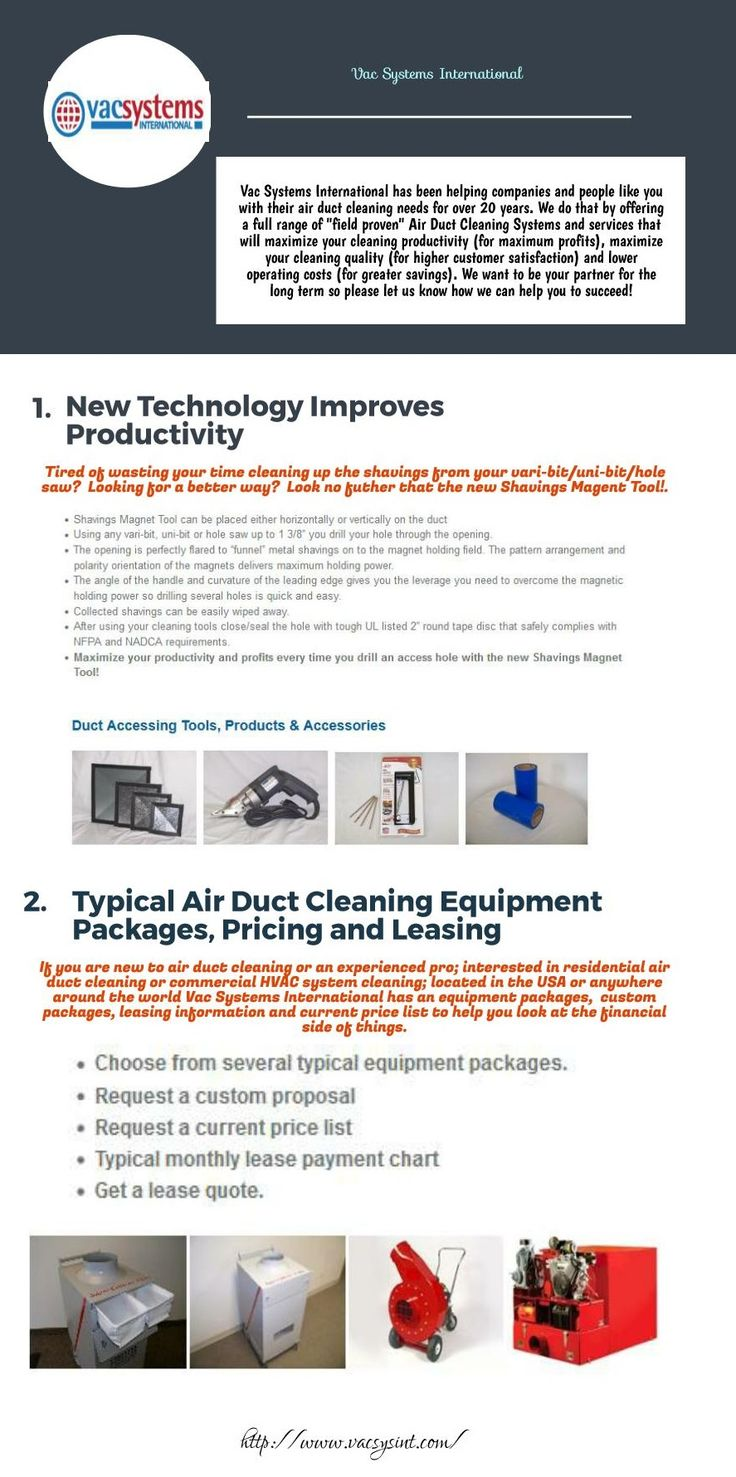 """If you are new to Duct Cleaning Equipment , then not to worry. Vac Systems International offers these """"field proven"""" duct accessing tools, products and accessories to help you maximize your productivity. Choose from service panels, cap plugs, isolation foam cubes, zone bags, duct mask, magnetic sheets, vari-bit, 2"""" to 12"""" hole cutter, electric shears and more.  All of these items are used every day by residential and commercial air duct cleaning contractors."""