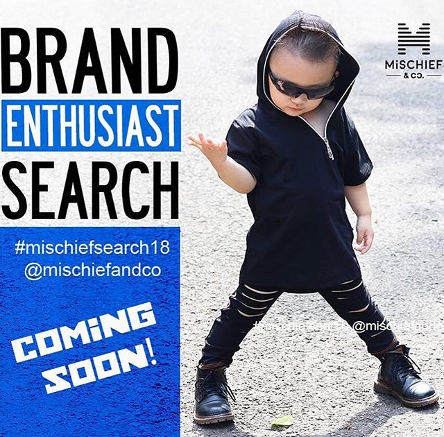 Join our team and be  the first to wear our new collections  Best time to join @mischiefandco and celebrate with us our second anniversary  Our Brand Enthusiast search is coming soon!! Dont miss out > www.mischiefandco.com . . . #mischiefsearch18 #mischiefandco #brandenthusiast #brandenthusiasts #brandenthusiastaus #brandenthusiastsearch #brandrep #brandreppin #brandrepsunite #brandrepsau #kidsclothing #babymodel #kidsclothes #brandrepbaby #brandreppinlove #brandrepping #kidsmodels…