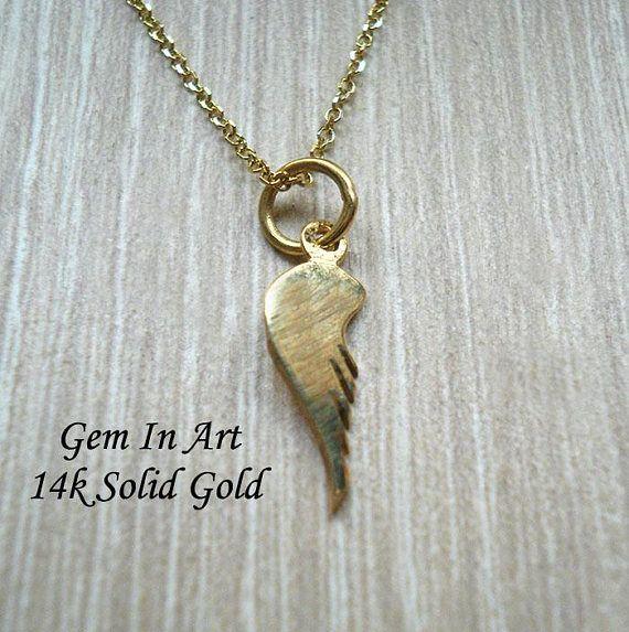 Gold winggold wing pendantfairytale giftminimalist