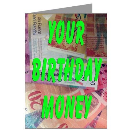 84 best switzerland images on pinterest banknote switzerland and birthday money greeting card showing a collection of colourful swiss franks fanned out giving the promise or money fandeluxe Gallery