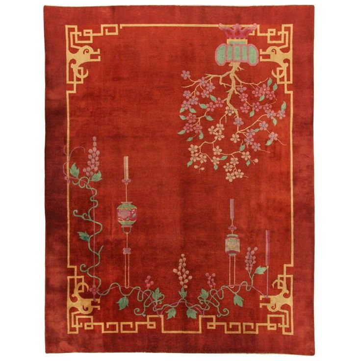 Handknotted Nicols Rug | From a unique collection of antique and modern chinese and east asian rugs at https://www.1stdibs.com/furniture/rugs-carpets/chinese-rugs/