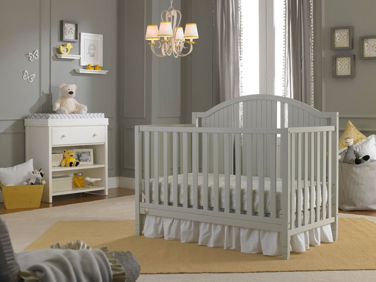 Fisher-Price Caitlin Convertible Crib in Misty Grey