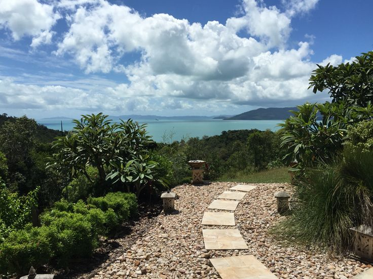 View from the top.  Airlie Beach