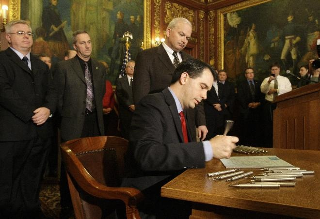 Federal court of appeals upholds Walker's Act 10 union law