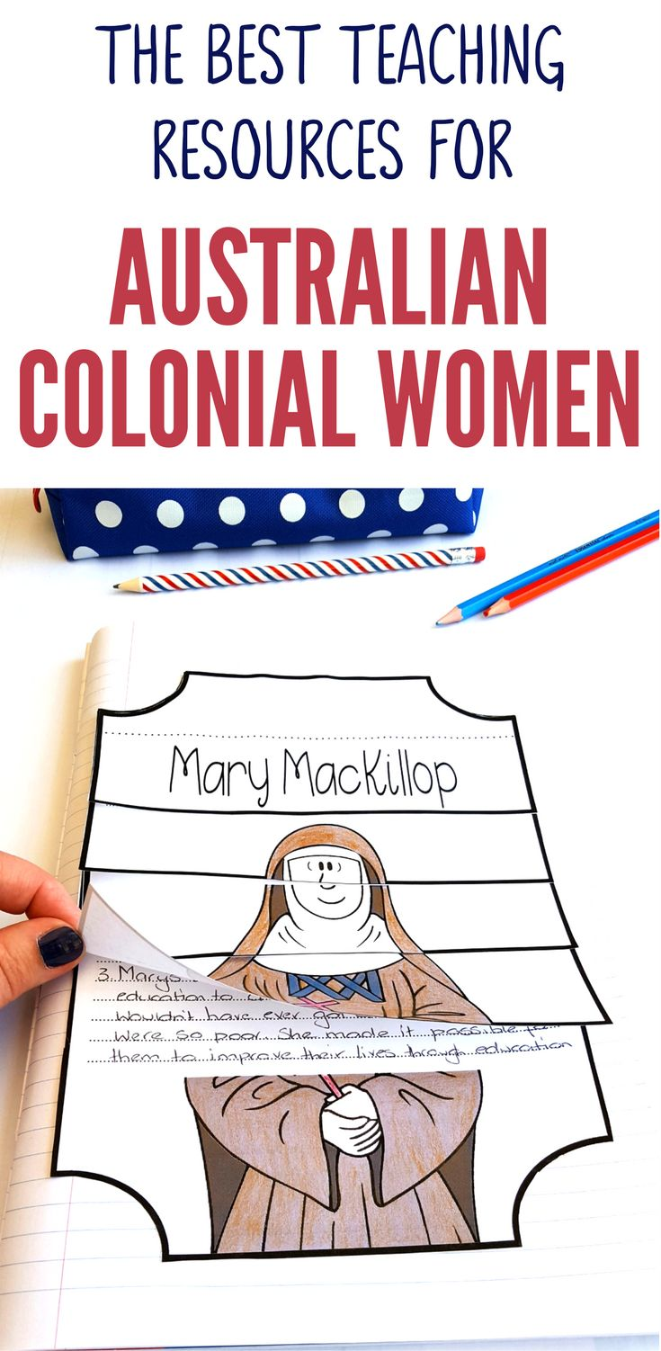 Check out our great range of Australian colonial women teaching resources designed especially for Australian Upper Primary Teachers. Our Australian Colonial Women range of teaching resources feature Caroline Chisholm, Mary MacKillop, Georgiana McCrae and Trugranini. They are aligned to the Australian Curriculum and provide excellent hands-on activities for your Year 5 HASS Australian History lessons.