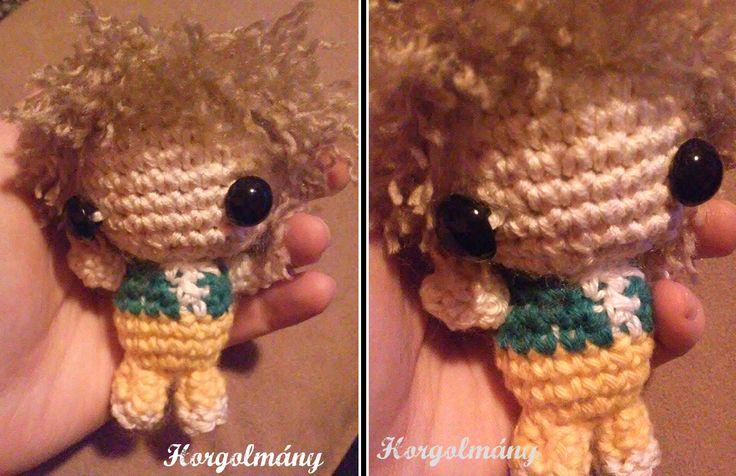 Horgolmány, crochet lord of ring, bilbo, amigurumi, doll