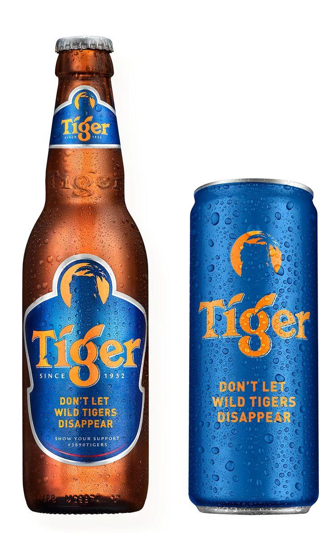 Disappearing Tiger Beer Bottle Label Design WWF Award