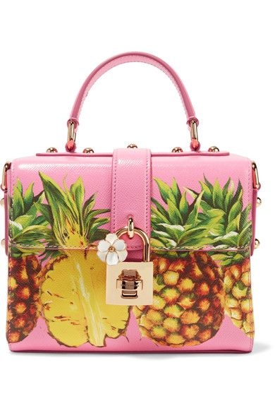 Multicolored printed textured-leather Twist lock-fastening front flap Comes with dust bag Weighs approximately 3.3lbs/ 1.5kg   Made in Italy