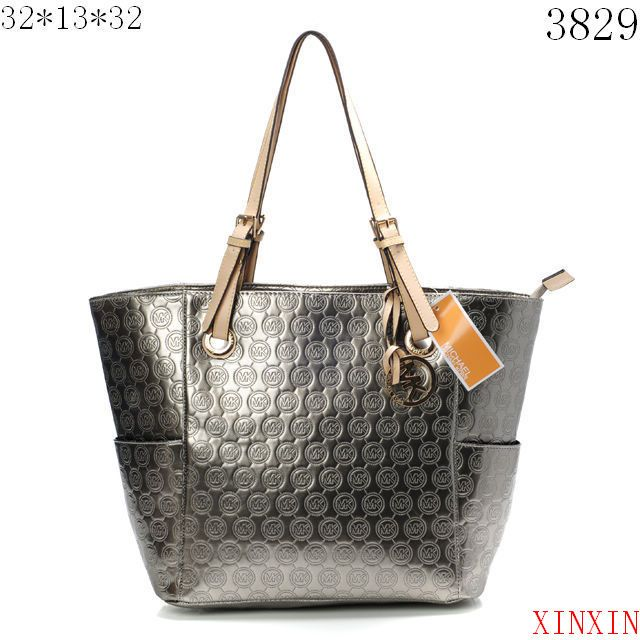 KnowInTheBox - High Quality Michael Kors Jet Set Mirror Metallic Large  Silver Totes From China