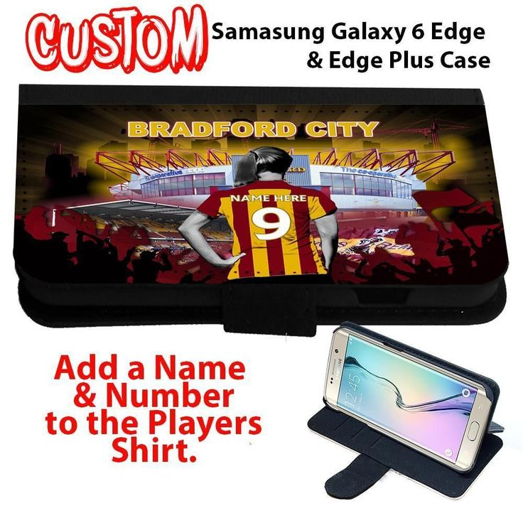Personalised Bradford City #samsung Galaxy S All Models Flip Phone Case Girl Gift