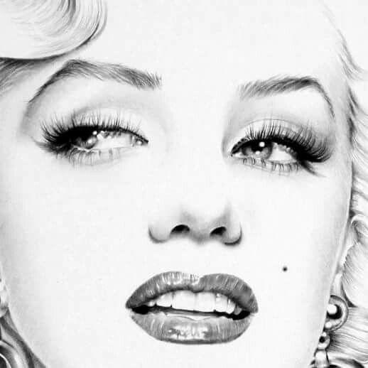 Marilyn Monroe, pen and ink illustration.