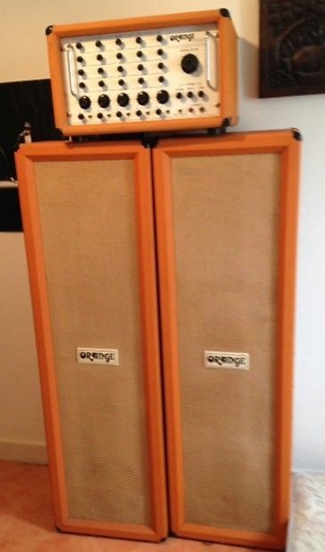 Vintage all original pa system plus two columns cab full ...