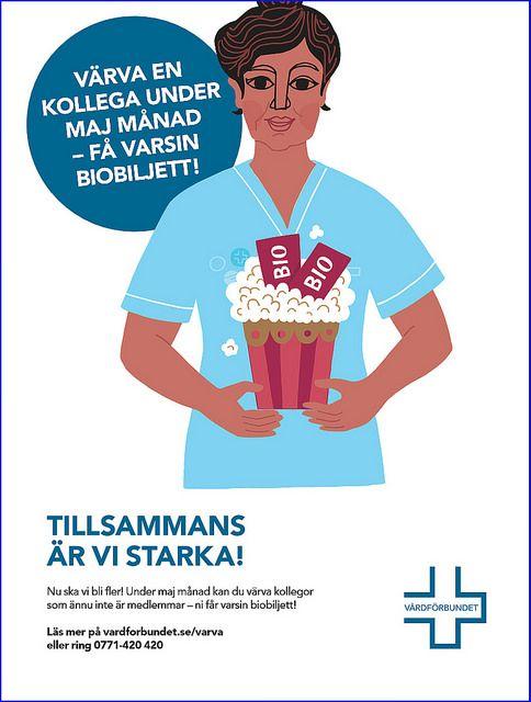 Värva en kollega affisch | by Vårdförbundet