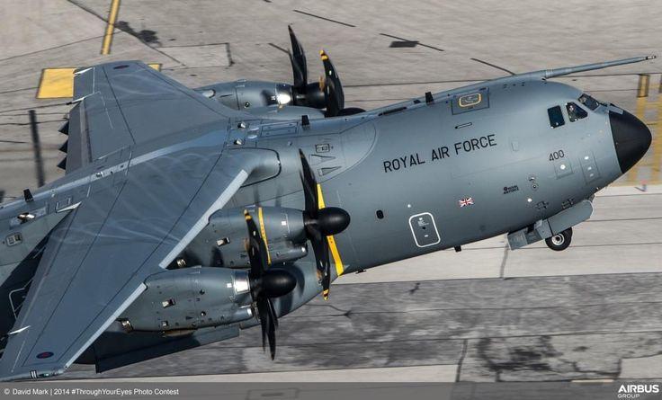 Beautiful shot of a Royal Air Force UK Airbus A400M visiting Gibraltar by @dparody