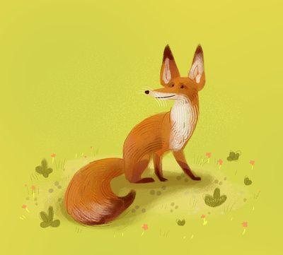 "Fox by Meg B. on Society6 - ART PRINT / MINI (9"" X 8"") $15.00"