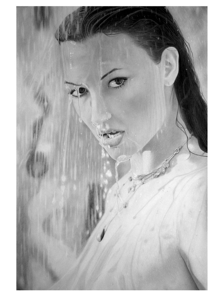 'wet dreams' graphite drawing