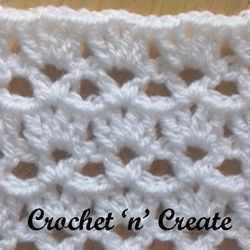 Learn shell and v stitch with my easy instructions…