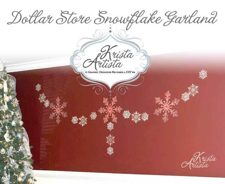 Dollar Store Snowflake Garland