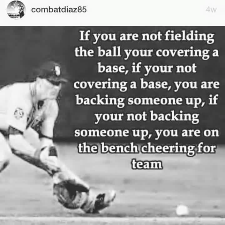 If you are not fielding the ball.. (Same goes for softball)