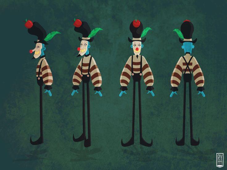 crazy mime #illustration #fantasy #character #design #artwork #mime