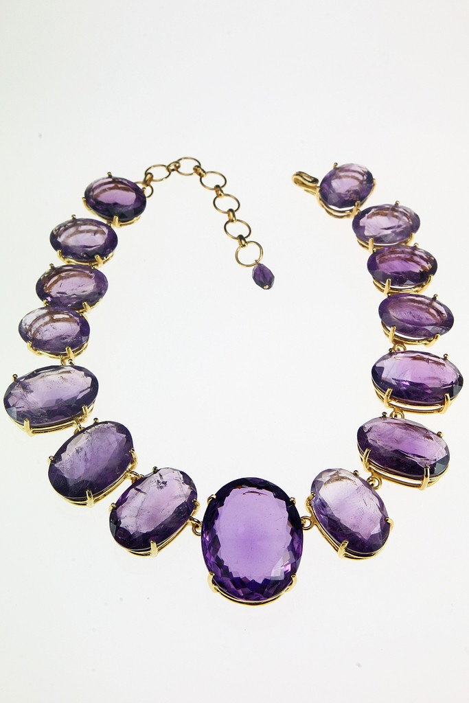 Necklace with Facted Amethyst