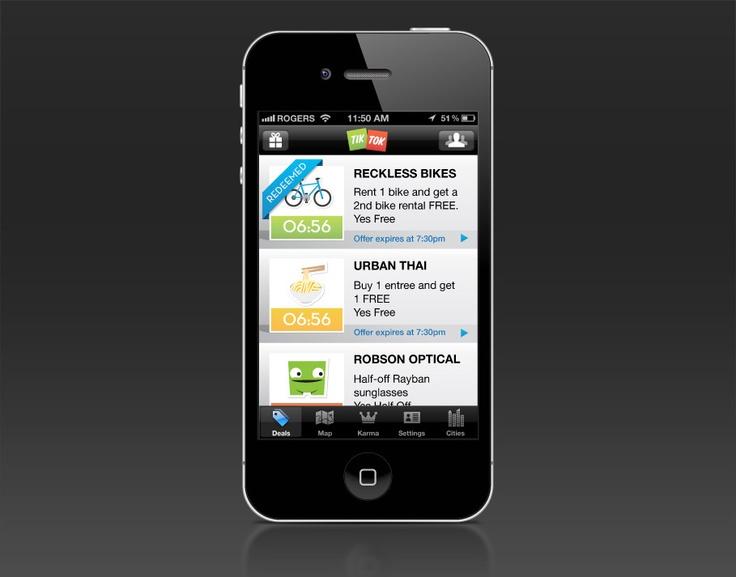 TikTok Mobile App.