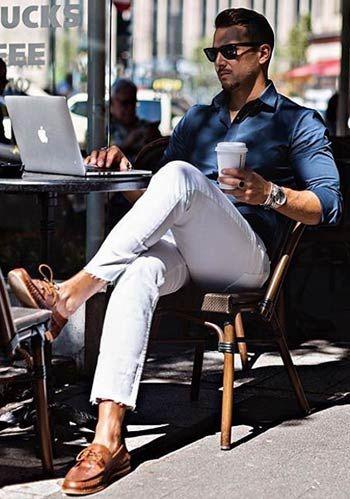 ブルーシャツの着こなし・コーディネート一覧【メンズ】   Italy Web