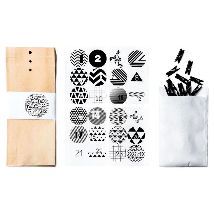 Adventskalender | nicenicenice Advent calendar black white
