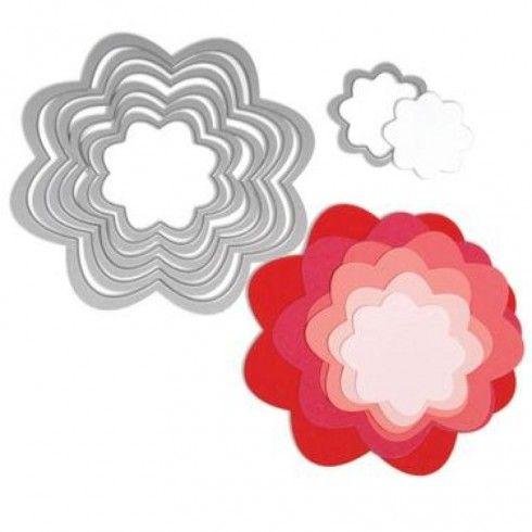 Troquel Framelits flores - 7 troqueles para Sizzix - 657553