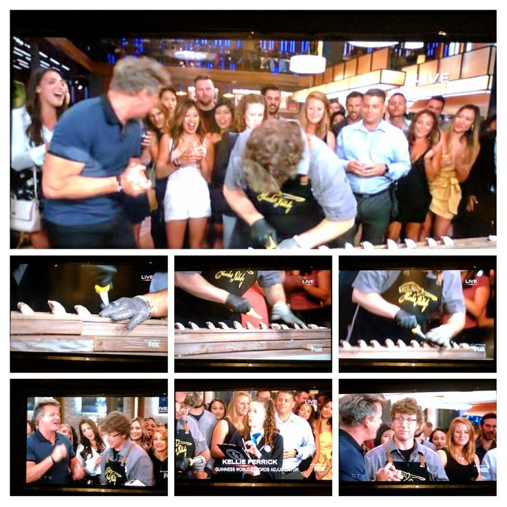Seacore team member & World Record Holder Patrick McMurray live on Gordon Ramsay  F Word #ShuckEm #Awesome