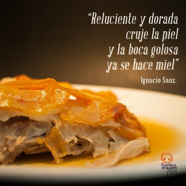 Cochinillo de #Segovia marca de calidad en Casares