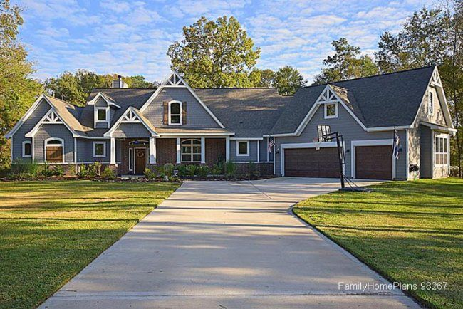 architecturally beautiful ranch home from plan 98267 at Family Home Plans