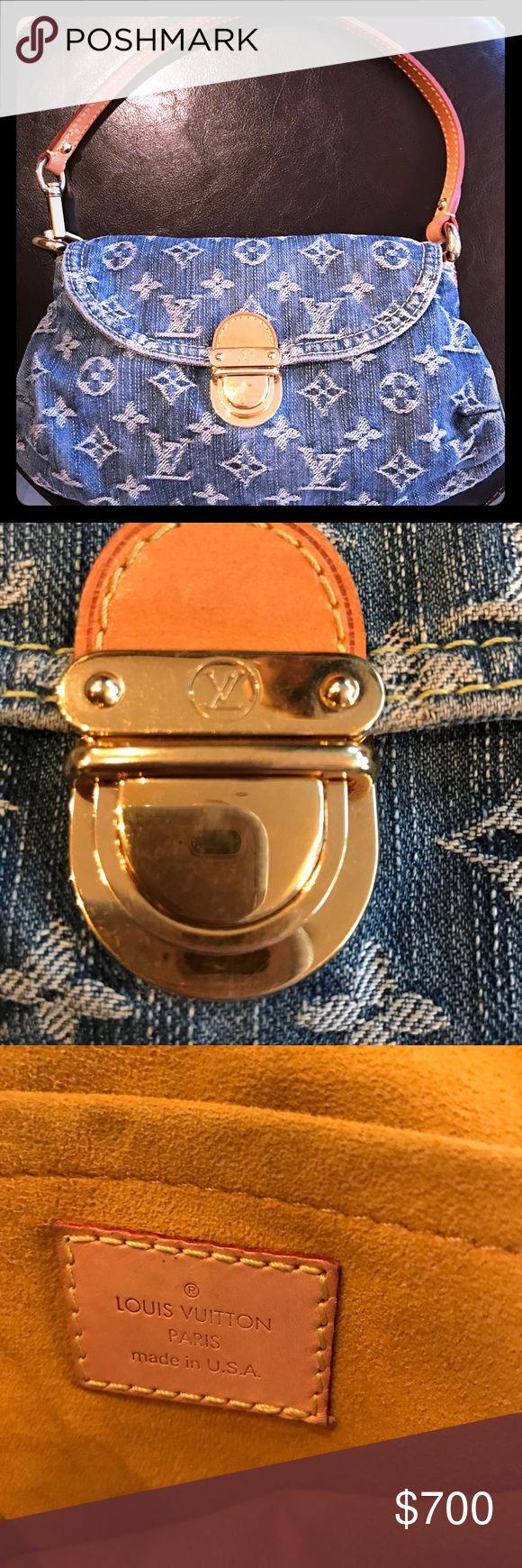 Authentic Louis Vuitton jean bag Authentic Louis Vuitton jean shoulder bag! Special edition bag in great condition. Louis Vuitton Bags Shoulder Bags