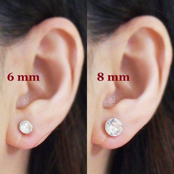 Crystal Swarovski Invisible Clip On Earrings Non Piered