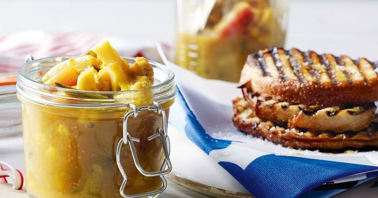 Preserve fresh vegetables to enjoy year-round in this modern vegetable relish.