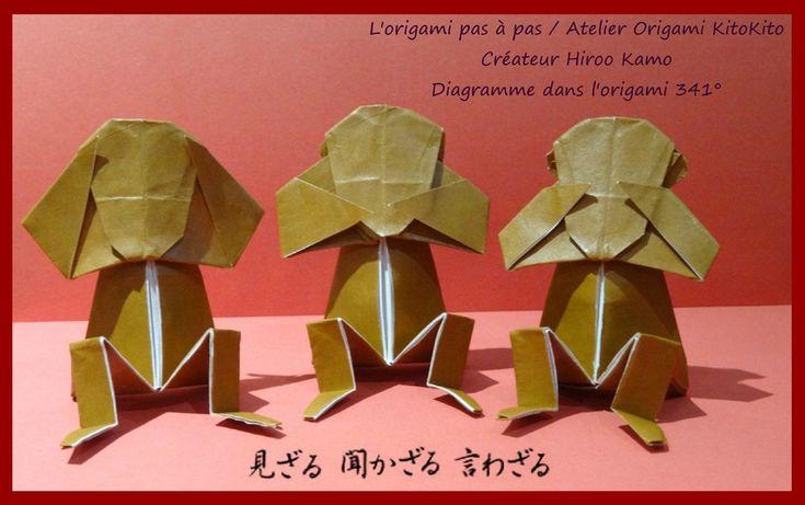 Atelier Origami KitoKito Les trois singes de la sagesse 1