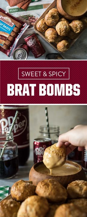 What are Sweet and Spicy Brat Bombs you ask? Baked pretzel dough, filled with Johnsonville Beef Bratwurst, Dr Pepper caramelized onions, cheese, and diced jalapeños, served with homemade beer cheese dip—aka your new favorite appetizer recipe! See for yourself by picking up these tasty ingredients and other game day essentials at your local Publix.
