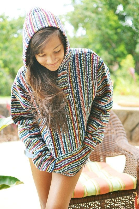 colorful mexican baja hoodie by callmecrasey on Etsy