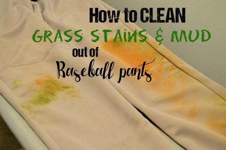 A no scrub method for getting grass stains out of baseball