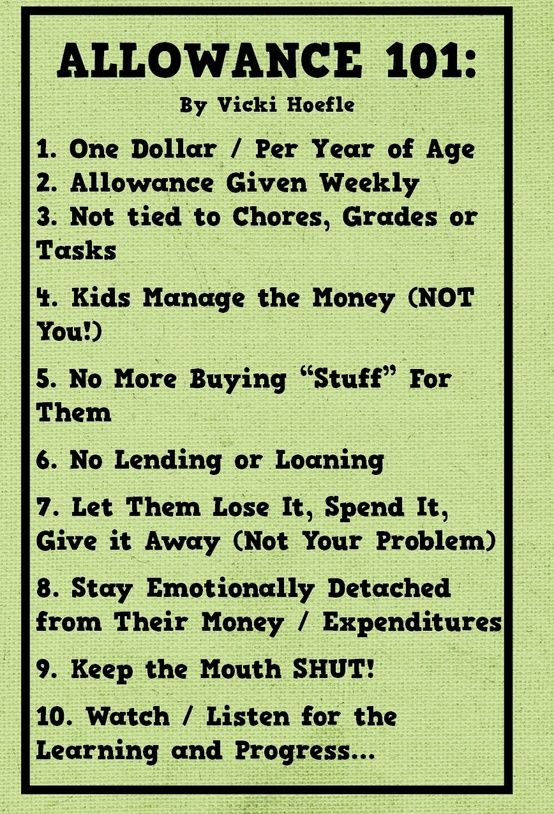 Interesting concept.... Kids allowance - some good rules of thumb. Maybe one day...
