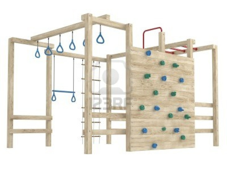 Wooden jungle gym