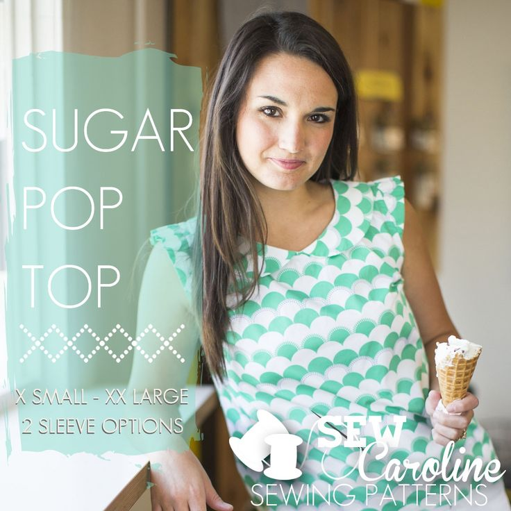 The Sugar Pop Top was designed for the everyday woman who is looking to up her wardrobe of jeans and t-shirts. This top is constructed simply, but ...