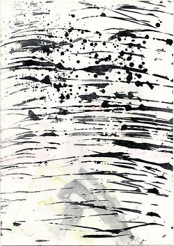 Painterly mark making print
