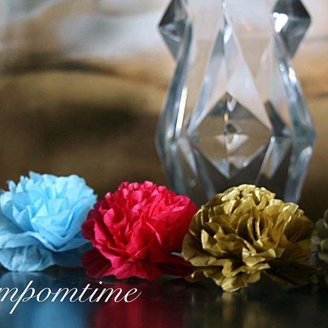Nové barvy v eshopu www.pompomtime.cz  tmavě šedá, nebeská modrá, bramboříková, zlatá, metalická  kytičky pompom 5cm #tmaveseda #seda #nebeskamodra #svetlemodra #bramborikova #metalicka #zlata #oslava #svatba #narozeniny #laska #love #partytime #partyplanner #pom #pompomtime #deti #krasa#beauty #kosmetika #dorty #sladkykoutek #instagood