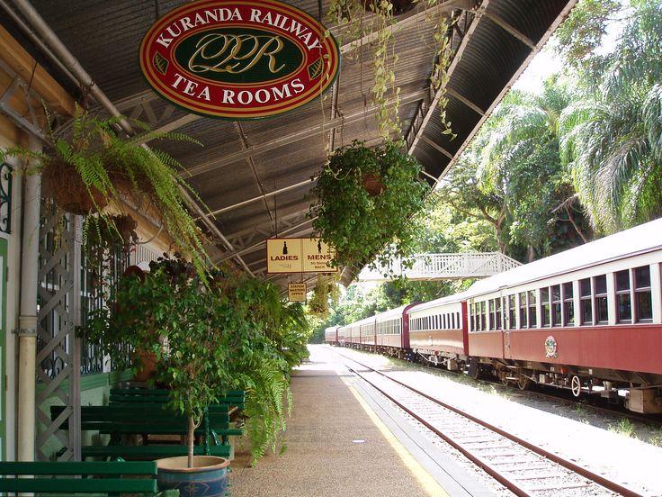 Australia - Kuranda train station. Recommend getting to Kuranda via the Skyrail then travelling back by train.