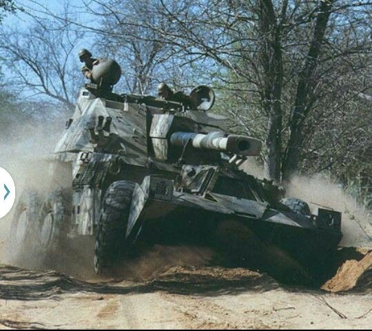 South African G6 wheeled artillery