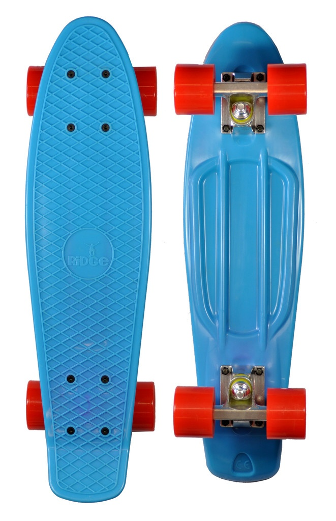 Ridge retro s penny style skateboard deck complete